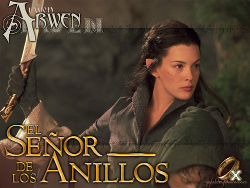 Lord of the Rings wallpaper probably with a sign and a portrait titled Arwen