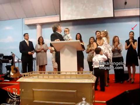 Caroline celico in church with Luca