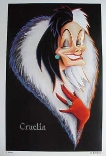 Bora ya Disney karatasi la kupamba ukuta probably with anime and a portrait titled Cruella de ville