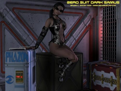 Dark Samus Aran Metroid Prime Zero Suit Art