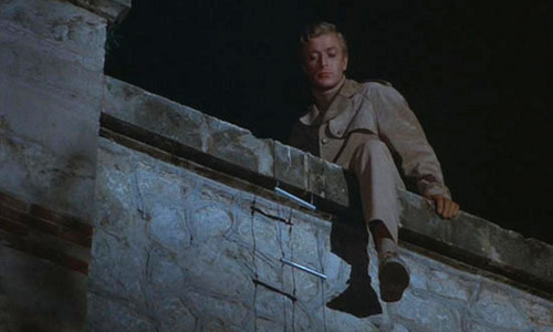 Michael Caine wallpaper possibly with a street and a bannister titled Deadfall Screencaps