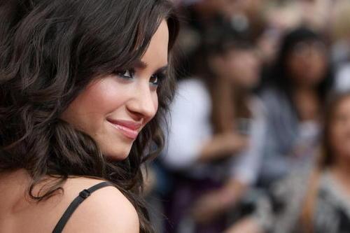 Demi at Hannah Montana: The Movie Premiere