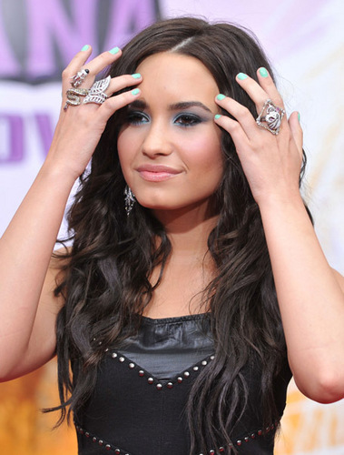 Demi at Hannah Montana: The Movie Premiere
