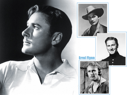 Classic Movies wallpaper probably with a portrait called Errol Flynn Wallpaper