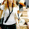 Gossip Girl photo probably containing a well dressed person, a shirtwaist, and an overgarment titled GG