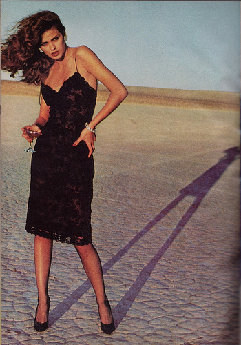 Gia Carangi wallpaper possibly with a cocktail dress, a skirt, and a dress called Gia
