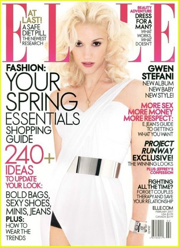 Gwen Stefani wallpaper probably with a portrait titled Gwen Shoots Elle Magazine Cover