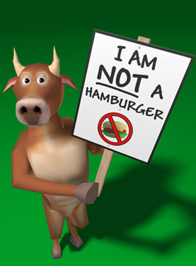 Hamburger Cow - animal-rights Photo