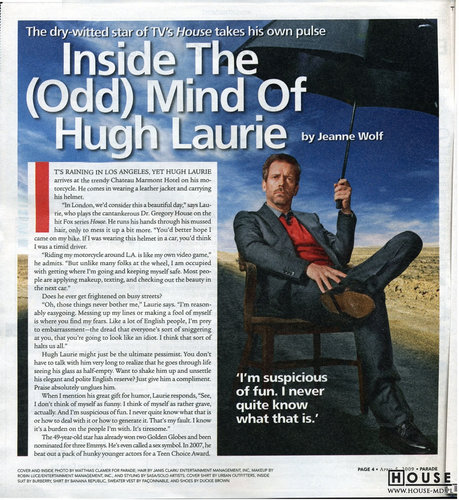 Hugh Laurie: skany Parade Magazine
