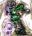 Kickass Luigi - luigi fan art