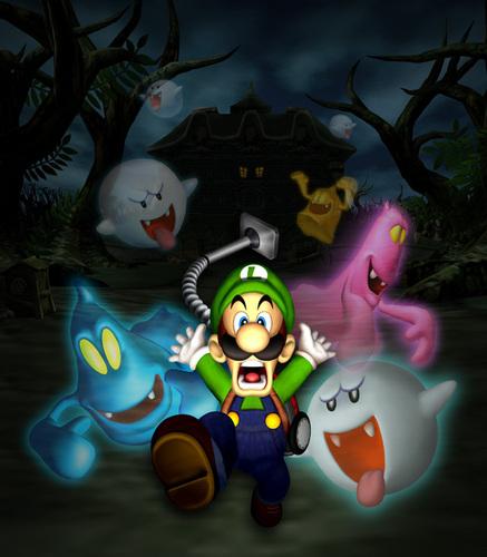 Luigi wallpaper probably containing anime entitled Luigi's Mansion