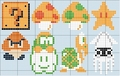 Mario Characters Stitch Patterns - super-mario-bros fan art