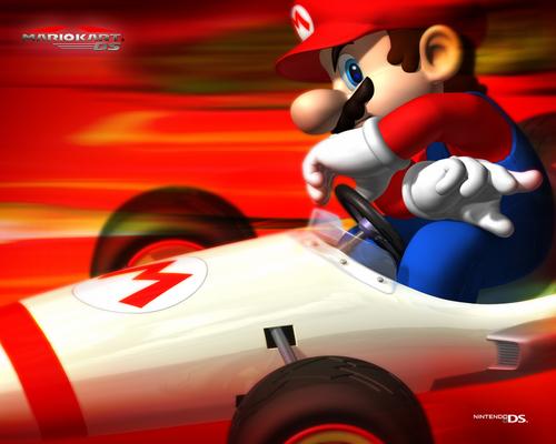 Mario Kart kertas dinding