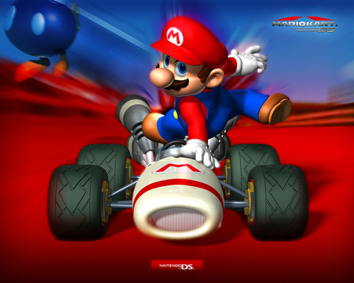 Super Mario Bros. wallpaper probably containing anime titled Mario Kart Wallpaper
