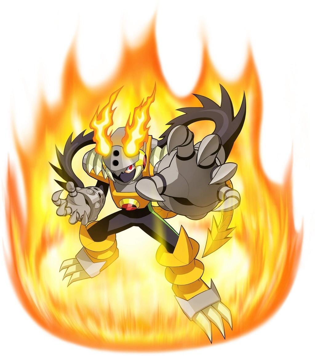 Megaman Gregar And Heat attraversare, croce