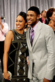 Melanie Barnett and Derwin Davis - the-game photo
