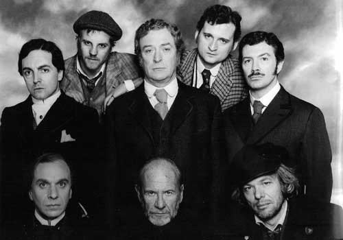 Michael Caine and the Cast of Jack the Ripper