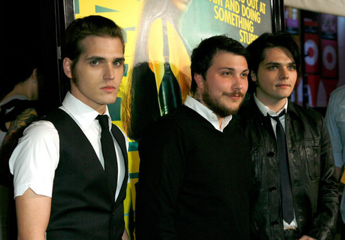 Mikey, Gerard and Frank @ the Premiere of 'The Watchmen'