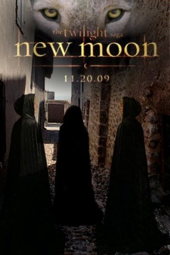 Twilight Series wallpaper possibly containing a cloak and a capote titled New Moon Fan Poster
