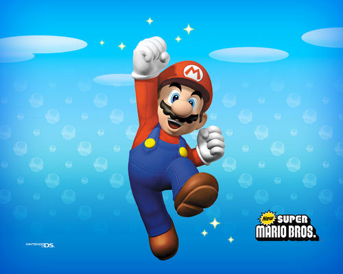 Super Mario Bros. wallpaper titled New Super Mario Brothers Wallpaper