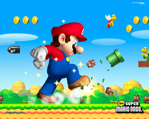 New Super Mario Brothers kertas dinding