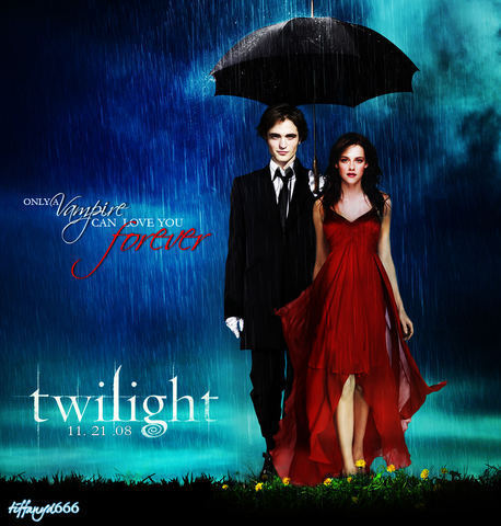 Twilight Series wallpaper possibly with a parasol called Only A Vampire Can Love You Forever