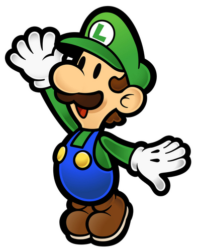 Luigi wallpaper containing anime called Paper Luigi