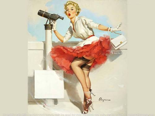 pin up girl wallpaper called Pin Up Girl
