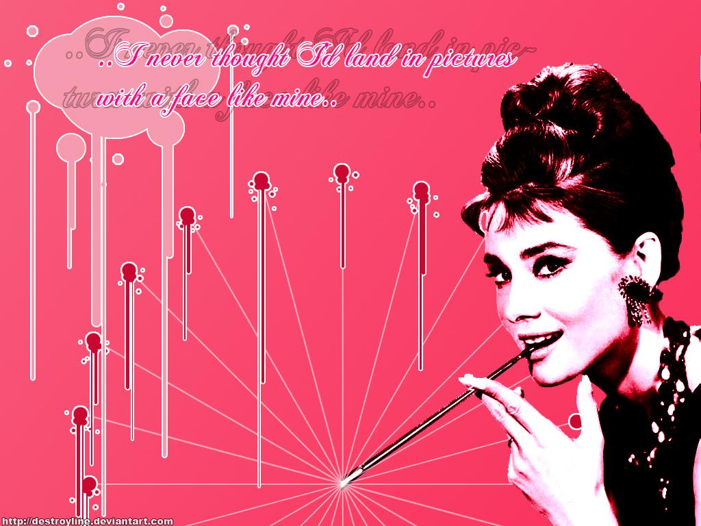 Pink Audrey - Audrey Hepburn Wallpaper (5314862) - Fanpop
