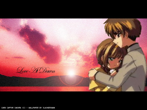 Card Captor Sakura fond d'écran containing animé titled Sakura and Syaoran