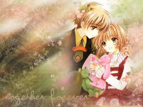Cardcaptor Sakura wallpaper titled Sakura and Syaoran