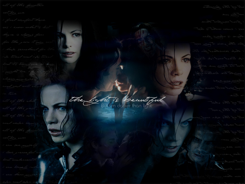 Selene & Michael - underworld Wallpaper