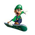 Snowboarding Luigi