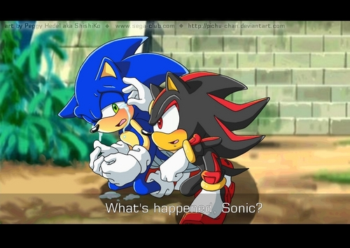 Sonadow wallpaper containing anime titled Sonic crying