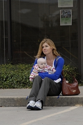 Friday Night Lights wallpaper probably with a business suit and a park bench entitled Tami & Gracie