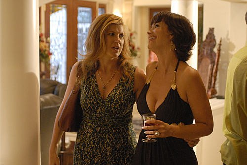 Friday Night Lights achtergrond possibly with a cocktail dress, a chemise, and a avondeten, diner dress titled Tami & Katie