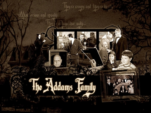 Addams Family kertas dinding entitled The Addams Family kertas dinding