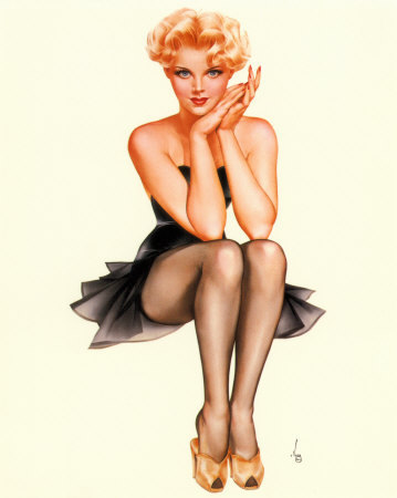 50 s Pin Up Girl Giclee Print