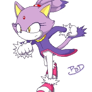 Blaze the Cat karatasi la kupamba ukuta probably with anime called blaze running