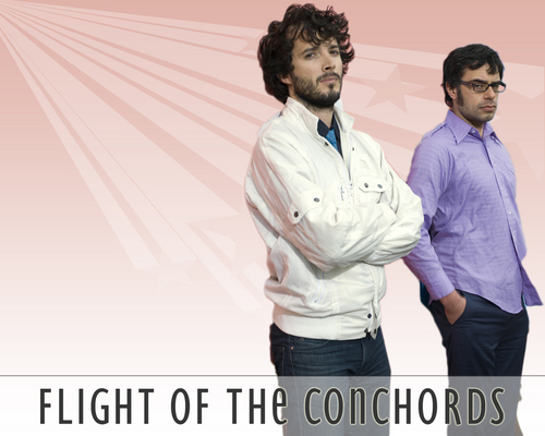 Flight of the Conchords wallpaper possibly containing a business suit called boom