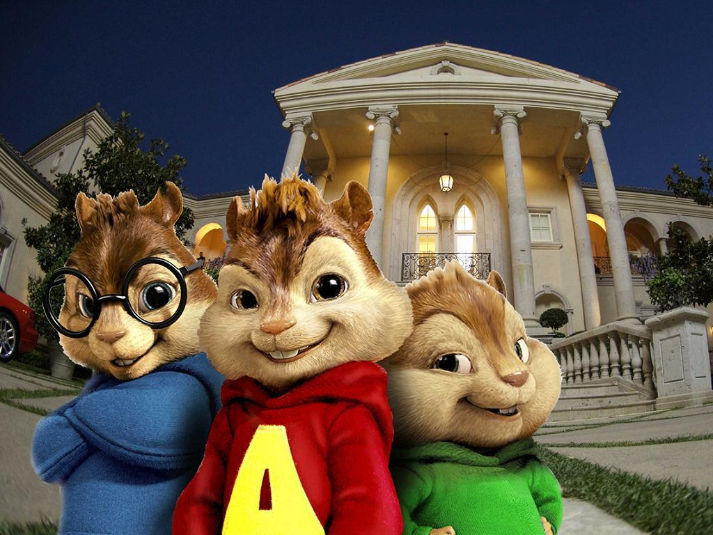 Alvin and the Chipmunks karatasi la kupamba ukuta