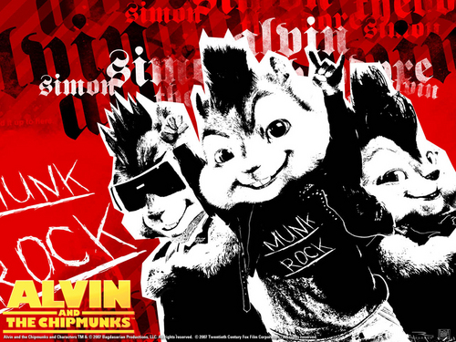 Alvin and the Chipmunks wallpaper containing Anime called Alvin and the Chipmunks wallpaper