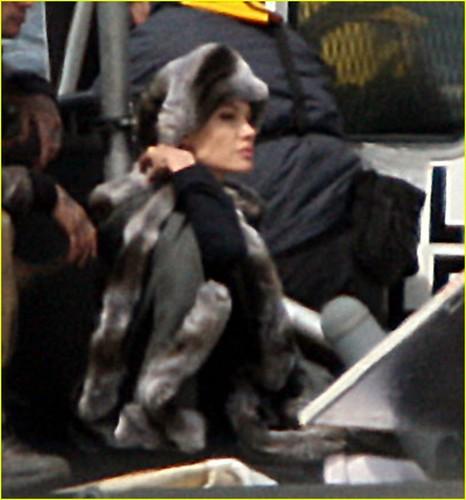 """Angelina on set of """"Salt"""""""