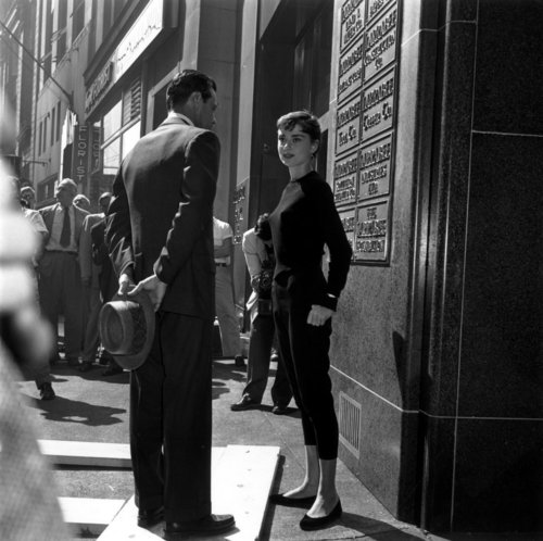 Sabrina (1954) wallpaper containing a business suit, a street, and a well dressed person called Behind the Scenes