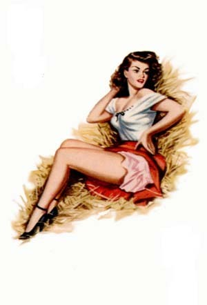 девушка 40-х годов