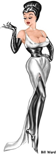 pin up girl wallpaper probably with anime entitled Bill Ward Pin-Up