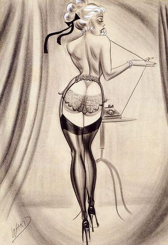 Pin Up Girls wallpaper entitled Bill Ward Pin-Up