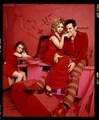 Buffy Cast in Red