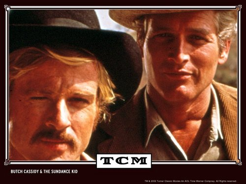 Paul Newman wallpaper with a fedora, a boater, and a porkpie titled Butch Cassidy and the Sundance Kid