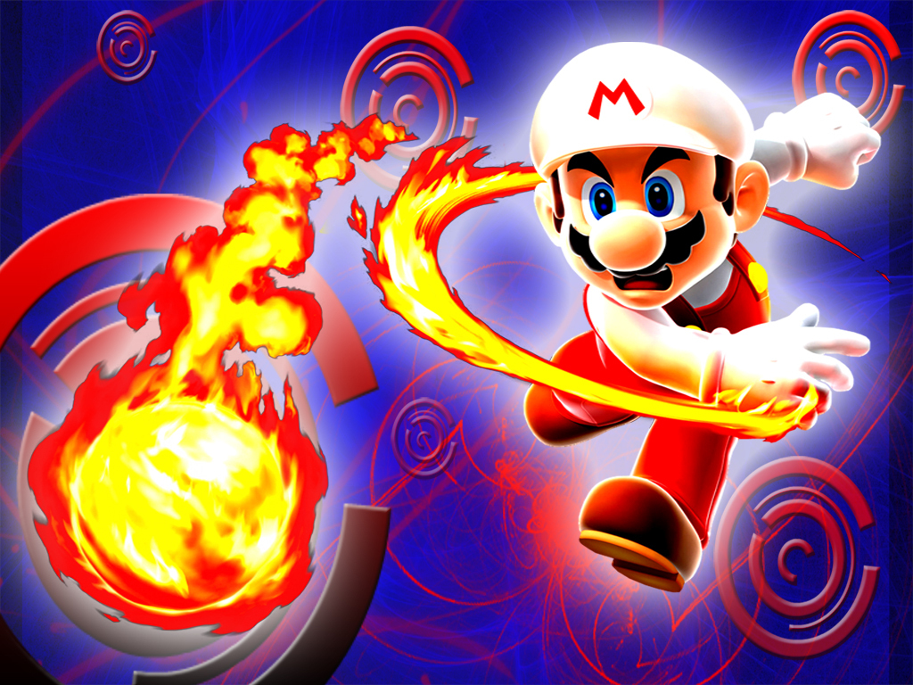 Super mario bros images fire mario fond d cran hd fond d for Super fond ecran